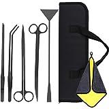 VavoPaw [5 PZS Herramientas de Acuarios de Acero Inoxidable, Kits para Acuarios con 2 Tijeras 2 Pinzas Espátula Bolsa de Alma