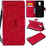 für Galaxy A6 Plus 2018 Hülle,Geprägte Muster Handy hülle/Tasche / Cover/Case für das Samsung Galaxy A6 Plus 2018 PU Leder Flip Cover Leder Hülle Standfunktion Kredit Kartenfächer (S) (3)