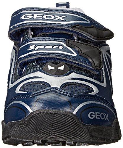Geox J Light Eclipse 2 A, Baskets Basses Garçon Blau (NAVY/SILVERC0673)