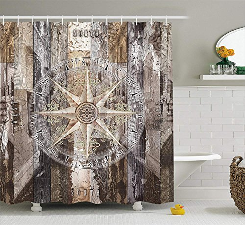Not afraid Grey and Teal Shower Curtain, Mandala Ombre Design Sacred Space Geometric Center Point Boho Meditation Art, Bathroom Decor Set with Hooks, 60 x 72 inches, Grey Teal (Ombre Duschvorhang Teal)
