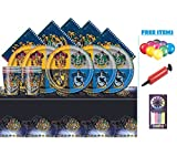Harry Potter Party Pack Kit da tavola per compleanno per bambini per 32 modelli, tazze, tovaglioli, copritavolo e palloncini gratuiti