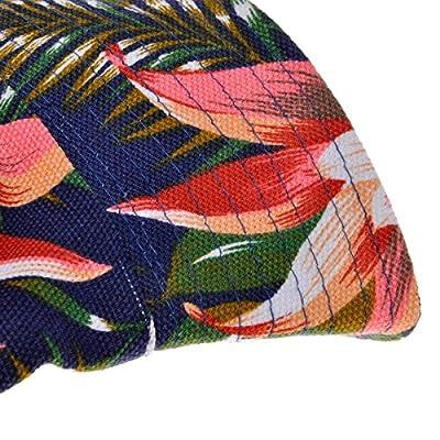 ZLYC Unisex Blumen Pflanze Regenwald-Druck Leinwand Canvas Sonnenhut Strandhut Fishermütze