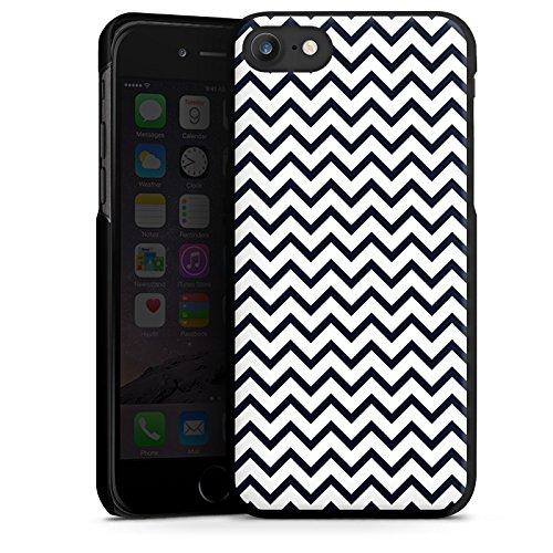 Apple iPhone X Silikon Hülle Case Schutzhülle Zickzack Muster Streifen Hard Case schwarz