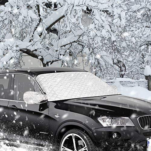 Windschutzscheibenabdeckung,Furado Frontscheibenabdeckung Auto Scheibenabdeckung Windschutzscheiben Abdeckung Winter, Auto Abdeckung Anti-Schnee Wind Frost Optima für Winter (147 x 100 cm)