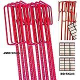 200X Barrera cuerda Soporte Rojo lacado para warnband, HR Gruppe, cadena 14x 1250mm de diámetro salpicadura