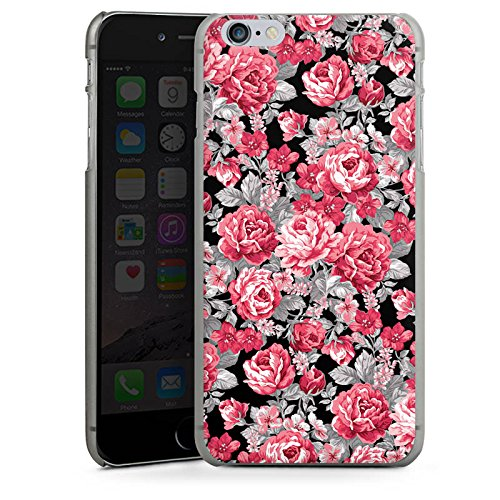Apple iPhone X Silikon Hülle Case Schutzhülle Blumen Bunt blumenmuster Hard Case anthrazit-klar