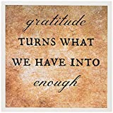 3dRose Gratitude Turns What We Have Into Enough Greeting Cards, Set of 12 (gc_200682_2)