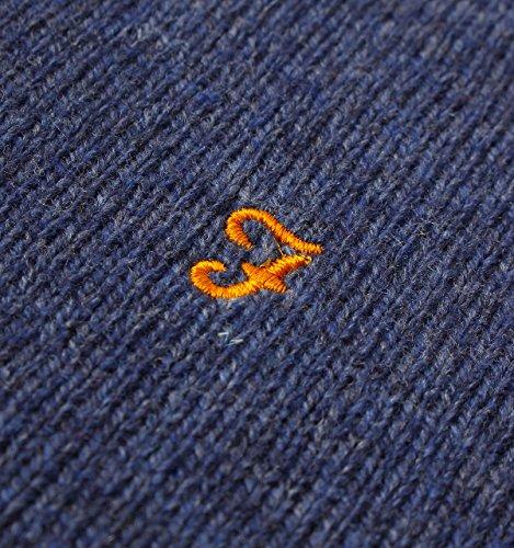 Farah Rosecroft Crew Neck Wool Jumper in Dusky Blue Dusky Blue