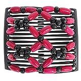 JUSTFOX – African Trend Haarklammer Haarspange Haarclip in pink