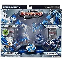 Giochi Preziosi 70249811 Monsuno Combat Pack 1 Core Tech Team - 4 figuras, 4 núcleos y 12 cartas