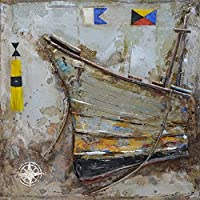 The Urban Port Antiqued Ship Metal Art, Rusty Color, One size