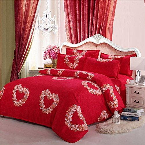 GX&XD Verdicken sie Baumwolle Reißverschluss Bettbezug, Tröster Cover gedruckt Weiche atmungsaktive bettbezug Für Für könig königin voll bettdecken-B 180x220cm(71x87inch) -