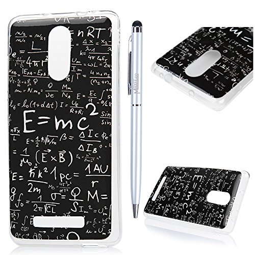 Custodia Xiaomi Redmi Note 3,Silicone Ultra Sottile - MAXFE.CO Case Cover Morbido TPU Gel Shock-Absorption Bumper,Ultra Slim Anti Slip - equazione matematica
