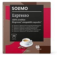 Marque Amazon - Solimo Capsules Espresso, compatibles Nespresso, 50 capsules (1 x 50)