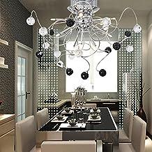 aolight g lmpara de techo cristal lmpara de hierro moderna y simple para sala