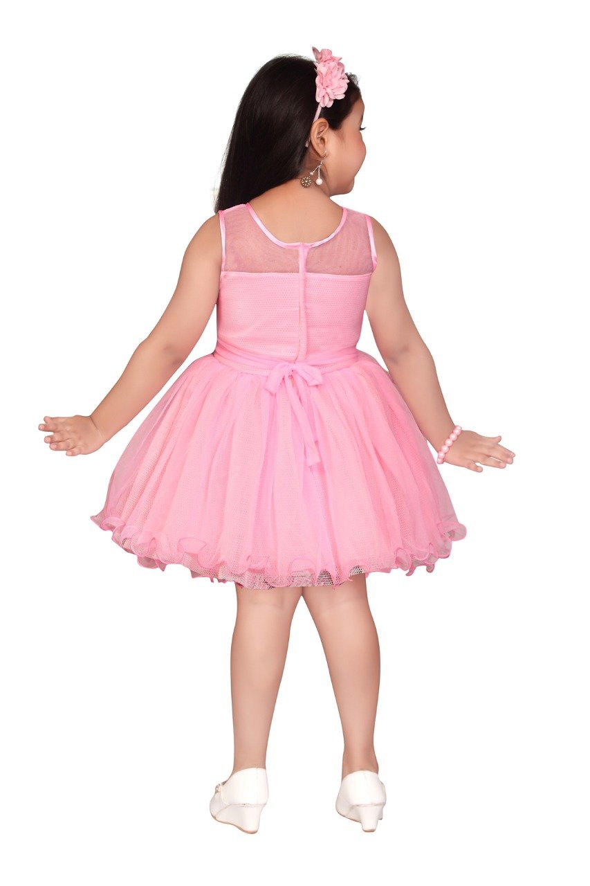 554665a5 Apna Baby Party Frock Dress for Kids Girls Multicolour