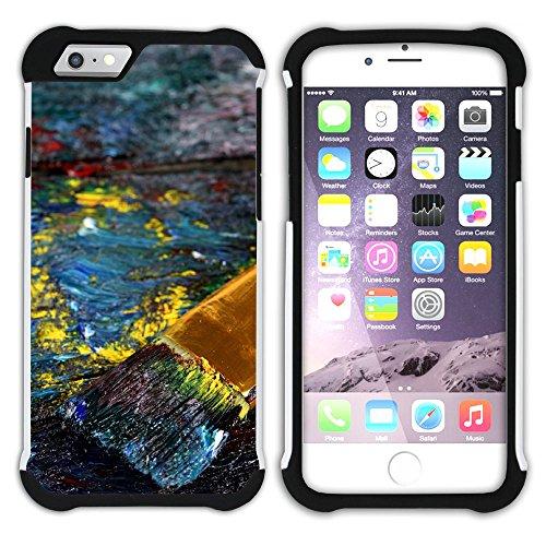 Graphic4You Flasche Farbe Farben Kunst Gemälde Malerei Hart + Weiche Kratzfeste Hülle Case Schale Tasche Schutzhülle für Apple iPhone 6 / 6S Design #27