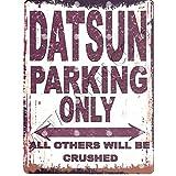 Datsun Parking Sign Petite 15 x 20 cm rétro Boîte Style vintage Décoration murale Abri Atelier Garage Classic Cars