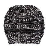 KPPONG Damen Frauen Plain Gestrickte Mischfarbe Winter Beanie Hut Cap Hair Hairband