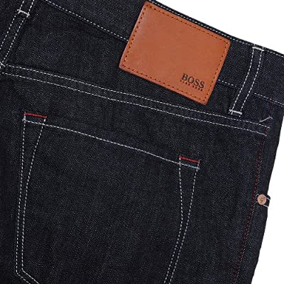 Hugo Boss Black Maine 5 Pocket Jeans In Darkwash