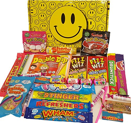 Smiley :) Bright Box of Tasty Sweets - Birthday gift for him or her