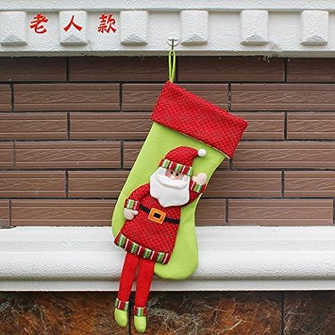 KMDJ Festival creative pupazzo di neve decorazione calze di Natale ornamenti Natale calza regali di Natale regalo calze