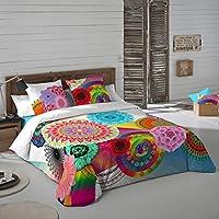 NATURALS Juego De Funda Nórdica Indhira Multicolor Cama 150 (240 x 220 cm + 2/45 x 90 cm)