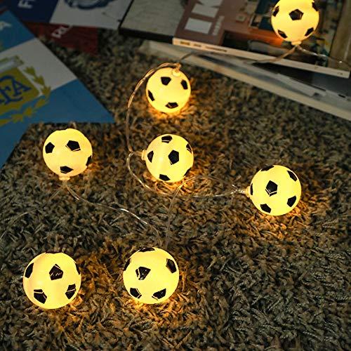 Fußball dekorative Lichter, kleine Laternen, LED-Lichterketten