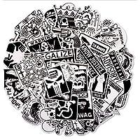 sundada Sticker Random Black And White Sticker Graffiti Punk Cool Stickers For Kids Sticker On Laptop Skateboard 60Pcs