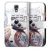 DeinDesign Samsung Galaxy S4 Tasche Leder Flip Case Hülle Bb-8 Star Wars 8 Merchandise Fanartikel