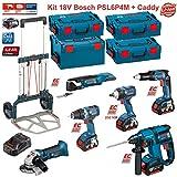 BOSCH Kit PSL6P4M (GWS 18 V-LI + GSR 18V-60C + GOP 18V-28 + GDS 18 V-EC 250 + GSR 18 V-EC TE + GBH 18 V-EC + Caddy)