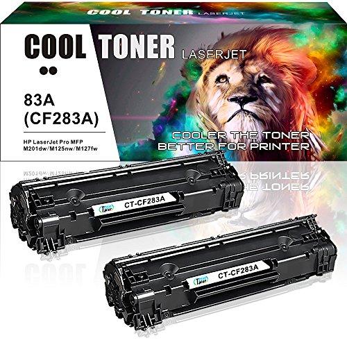 Cool Toner 2-Pack Kompatibel für HP 83A CF283A Toner CF283X für HP Laserjet Pro MFP M125nw M127fw Toner, HP MFP M127fn M125a M225dn M127fs M128fw, HP M125a M127fs, HP M201dw M201n Schwarz, 1500 Seiten