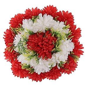 B Blesiya Artesanía Artificial Clavel Arreglos Florales Tumba Cementerio Guirnalda Flor – Rojo, 35 x 14 cm