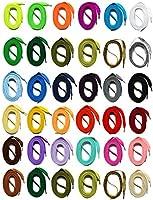 SNORS LACETS de COULEUR PLATS 34 couleurs, 6 longueurs, 2 largeurs - Dentelles