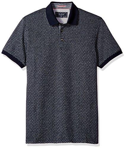 Ted Baker Men's Navy Blue Talford Short Sleeved Polo Shirt Navy