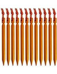 Al aire libre tienda de campaña de aluminio lenhar estacas piquetas, pack de 10, Orange Stakes, 7inch