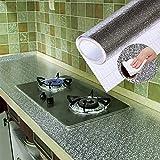 XuBa Aluminiumfolie Küche Aufkleber 40X100 CM Öldicht Wand Boden Wasserdicht DIY Wohnmöbel Schmücken