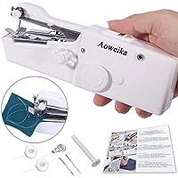 Machine à Coudre portative, KHUAHENG Mini Machine à Coudre Portable Manuelle Electrique Machine à Coudre DIY Débutant Blanc
