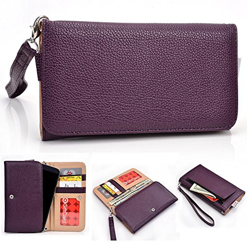 Kroo d'embrayage avec dragonne Portefeuille 16cm Smartphones et phablettes pour Blu Studio 6.0LTE/Life View/Life/One XL/Studio 5,5 violet violet