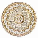 Gemsandcraft Mandala Doré ombré Rond Tapis de Yoga 127cm Housse de Table...