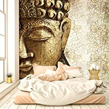 Papel Pintado Buddha Vintage Oro 274 x 254 cm Fotomurales Espíritu Asia Vendimia Bronce Templo livingdecoration
