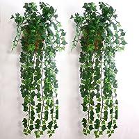 Artificial Ivy Leaf Garland Plants Vine Fake Foliage Home Room DIY Wall Decor