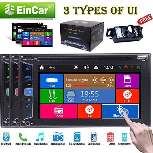m Auto 5 Punkte kapazitiven Touch-Screen-Radio Stereo-6.2 Zoll-Steuergerät Integrierte Bluetooth FM AM-Empfänger USB SD Aux EQ Audio-Auto-Audio Autoradio DVD-Player mit kostenl ()