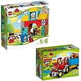 LEGO Duplo 2-teiliges Set 10617 10524 Mein erster Bauernhof + Traktor