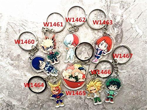 senschaft Anime Boku No Hero Wissenschaft izuku midoriya Cosplay Kostüm Zeichen Anhänger Schlüsselanhänger Key Ring (8-teiliges Set) ()
