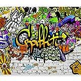 Vlies Fototapete 400x280 cm - 3 Farben zur Auswahl - Top - Tapete - Wandbilder XXL - Wandbild - Bild - Fototapeten - Tapeten - Wandtapete - Wand - Graffiti Streetart f-A-0348-a-d