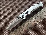Vikidoo Sog Flame Couteau tactique pliable, à cran d'arrêt, pour camping, airsoft, chasse, pêche