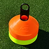 Markierungsteller, 50 Stück, mit Ständer, beste Qualität [Net World Sports] (Markierungsteller orange/gelb)