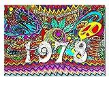DigitalOase Glückwunschkarte 1978 40. Geburtstag Jubiläumskarte 40. Jubiläum Geburtstagskarte Grußkarte Format DIN A4 A3 Klappkarte PanoramaUmschlag #WOODST