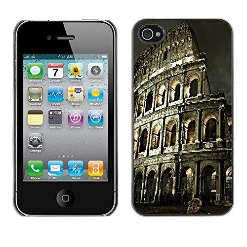 Graphic4You Manarola Italy Postkarte Ansichtskarte Design Harte Hülle Case Tasche Schutzhülle für Apple iPhone 4 und 4S Rome